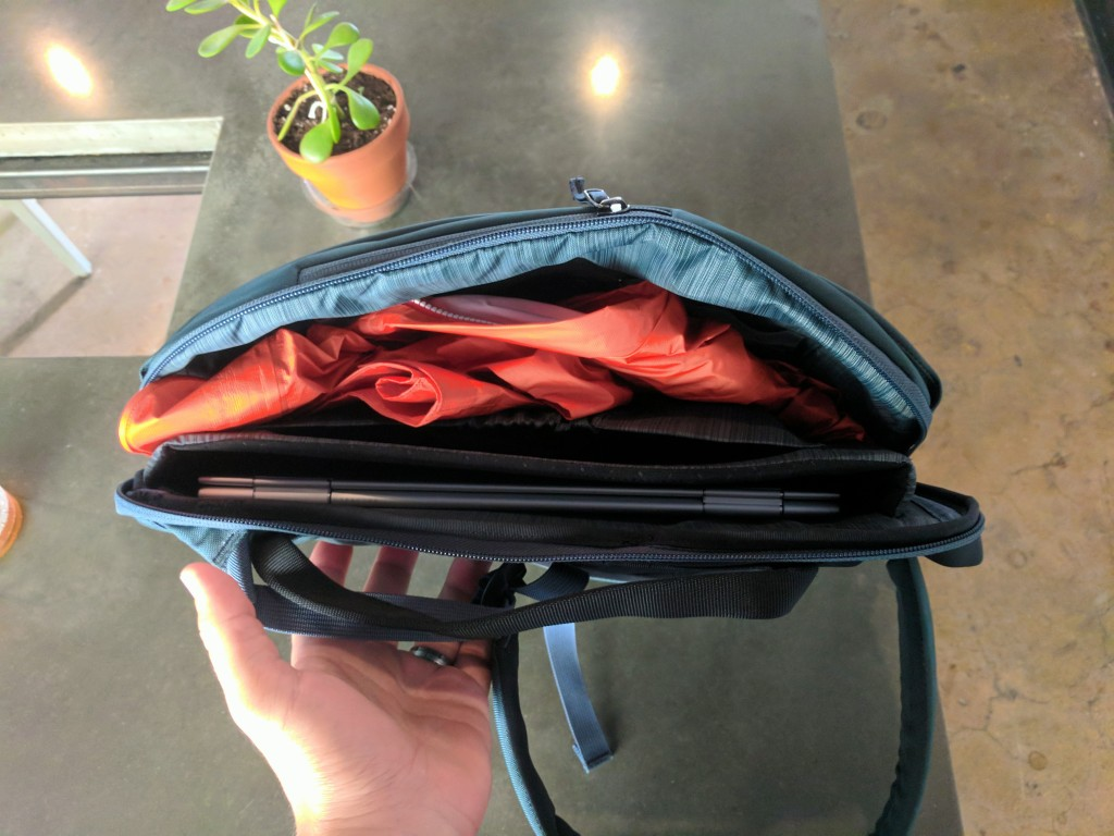 Arc'teryx Blade 6 review main compartment and laptop sleeve