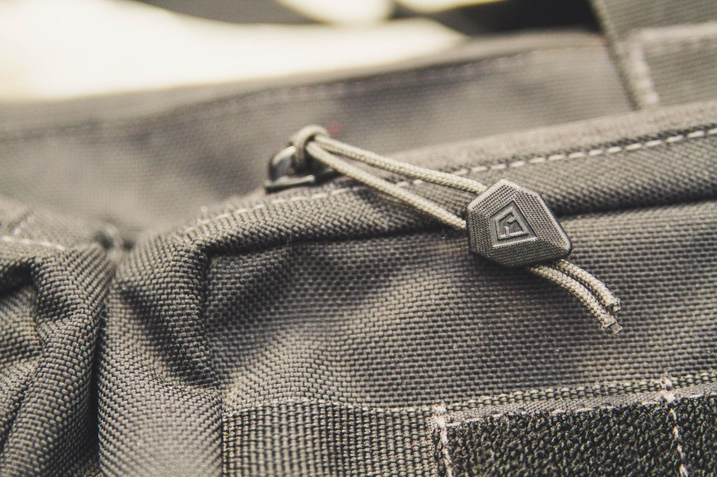 First Tactical Executive Briefcase zipper pull detail shot