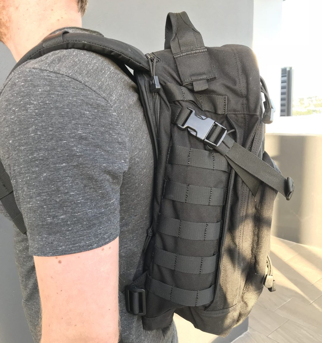 5.11 Rush 24 backpack review, Side View