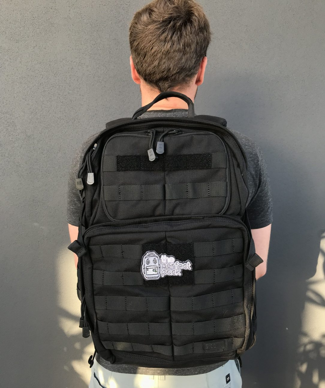 5.11 Rush 24 backpack review on body
