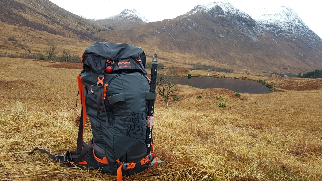 Bergans Helium Pro 40 Backpack exterior hillside