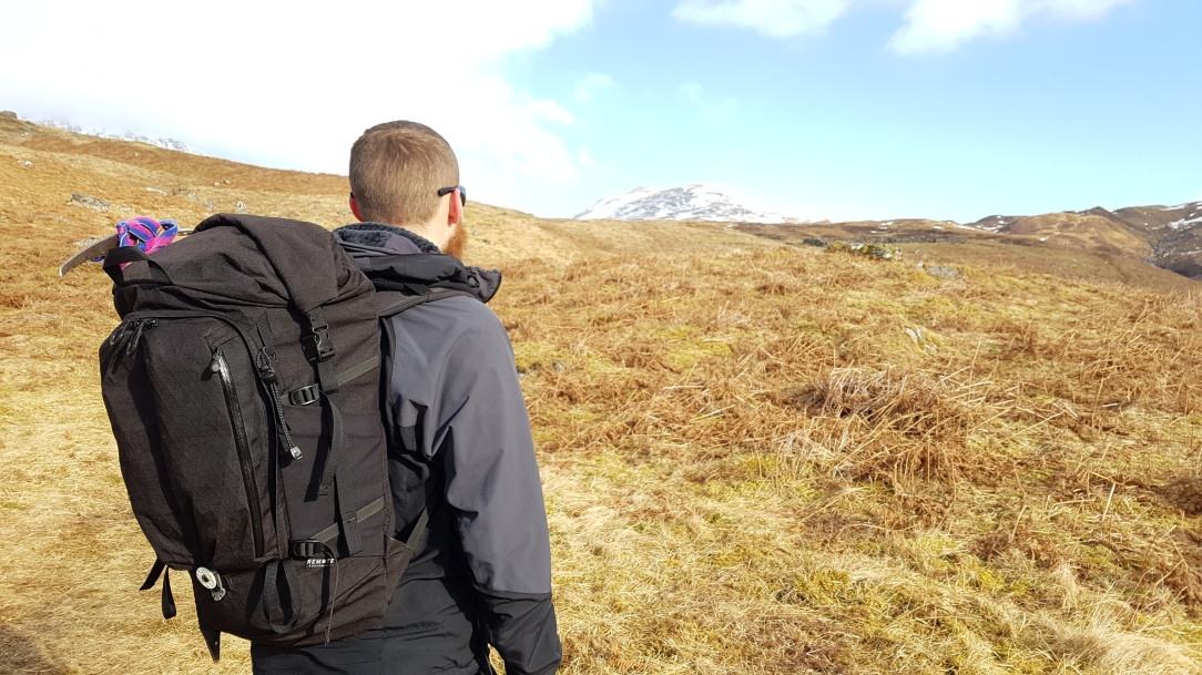 Remote Equipment Alpha 31 Backpack on body hillside