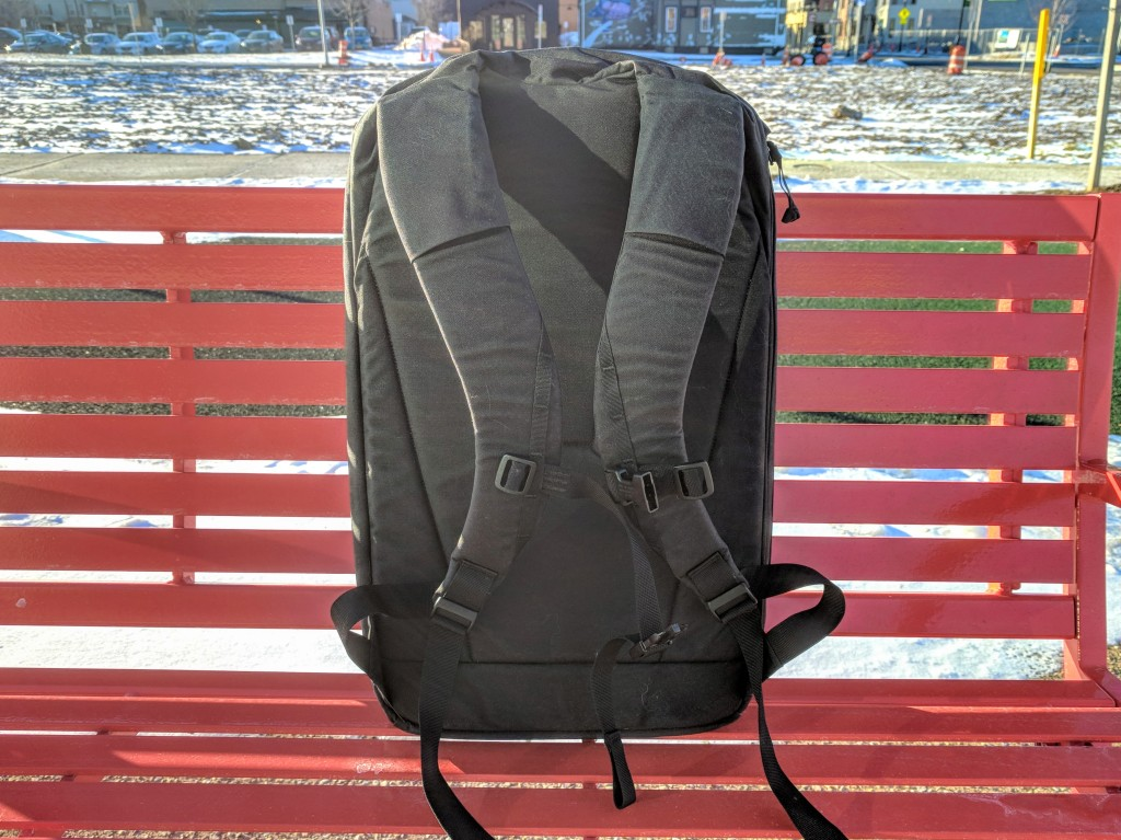 EVERGOODS Civic Panel Loader 24 backpack review harness