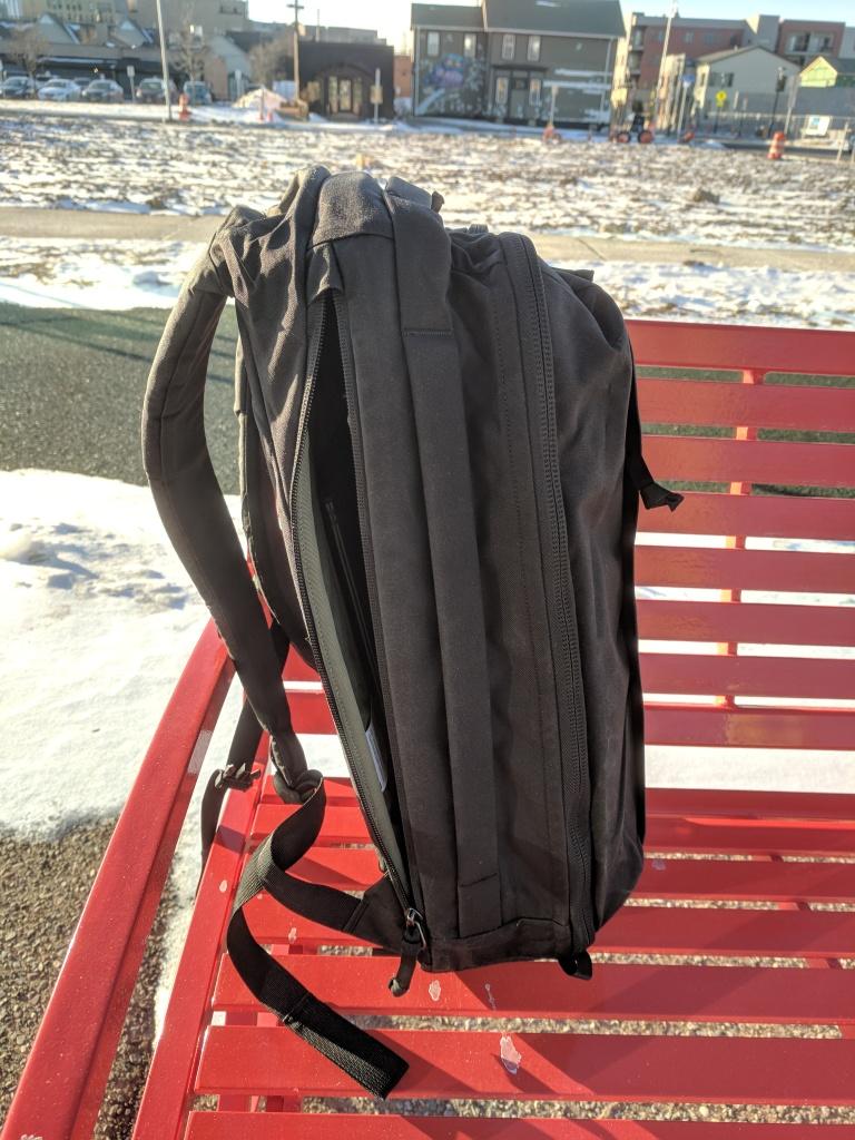 EVERGOODS Civic Panel Loader 24 backpack review side handle