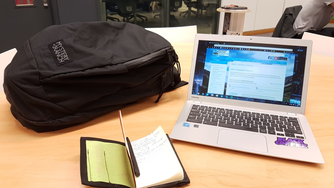 Mystery Ranch Slick Backpack laptop and study