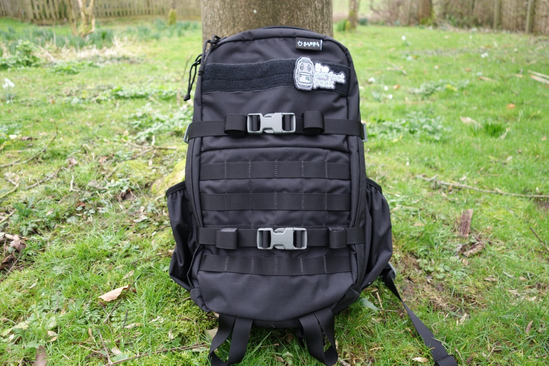 Sabra Gear Solo Review molle webbing with patch panel