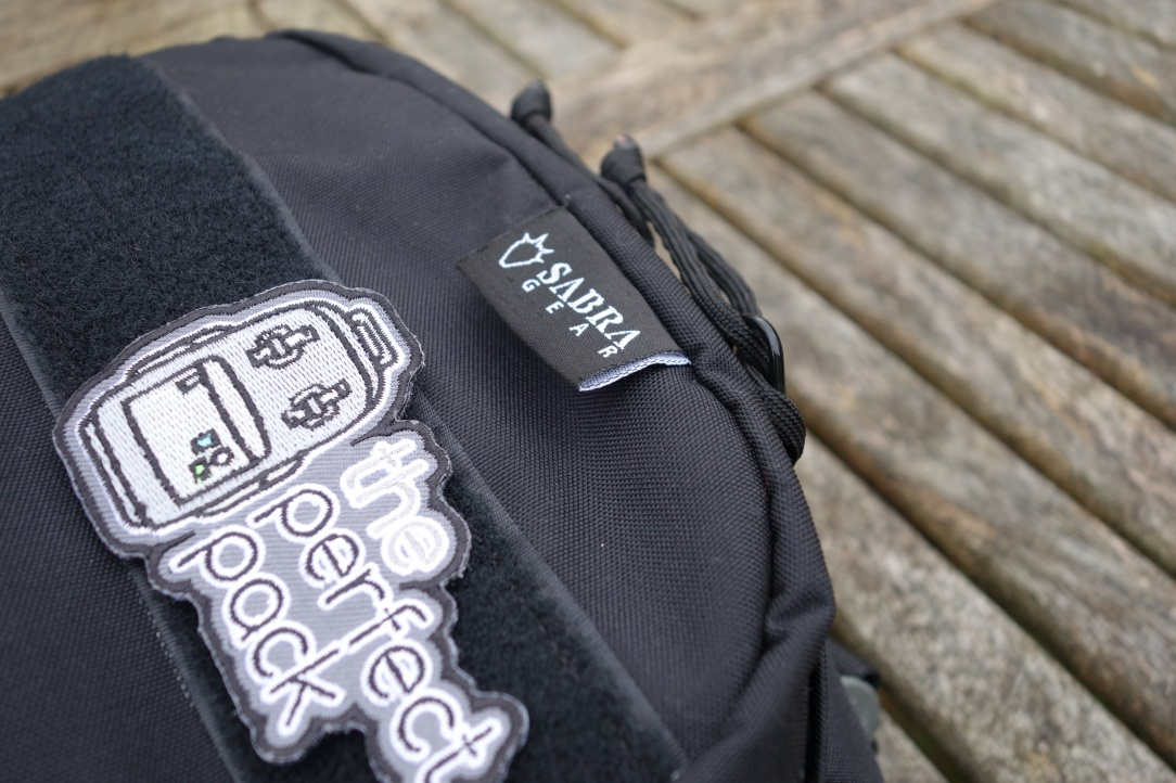 Sabra Gear Solo Review patch and logo close up