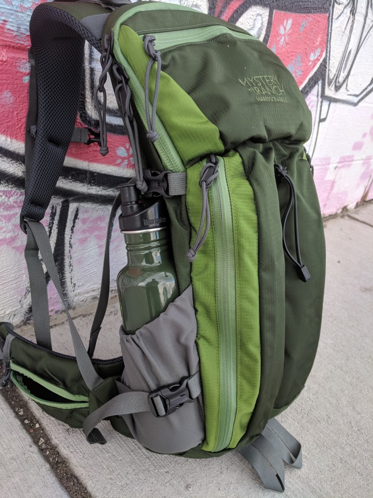 Mystery Ranch Hardscrabble backpack review bottle pockets