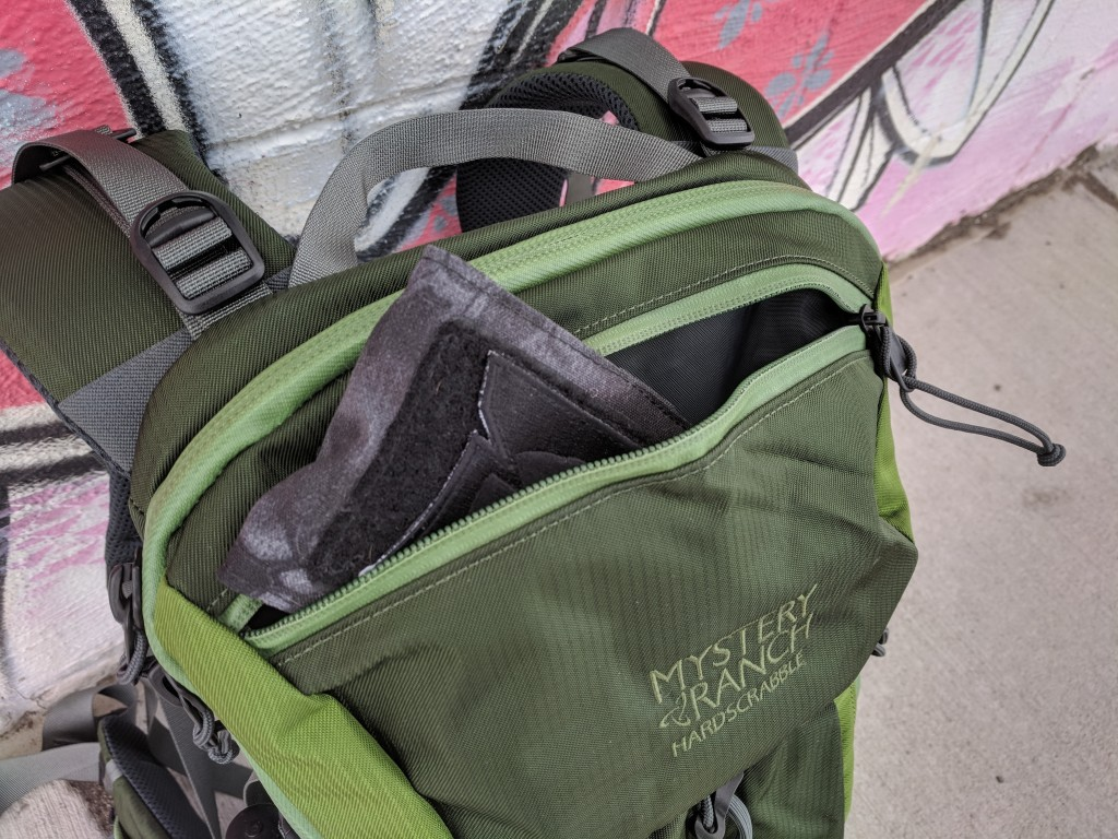Mystery Ranch Hardscrabble backpack top lid pocket