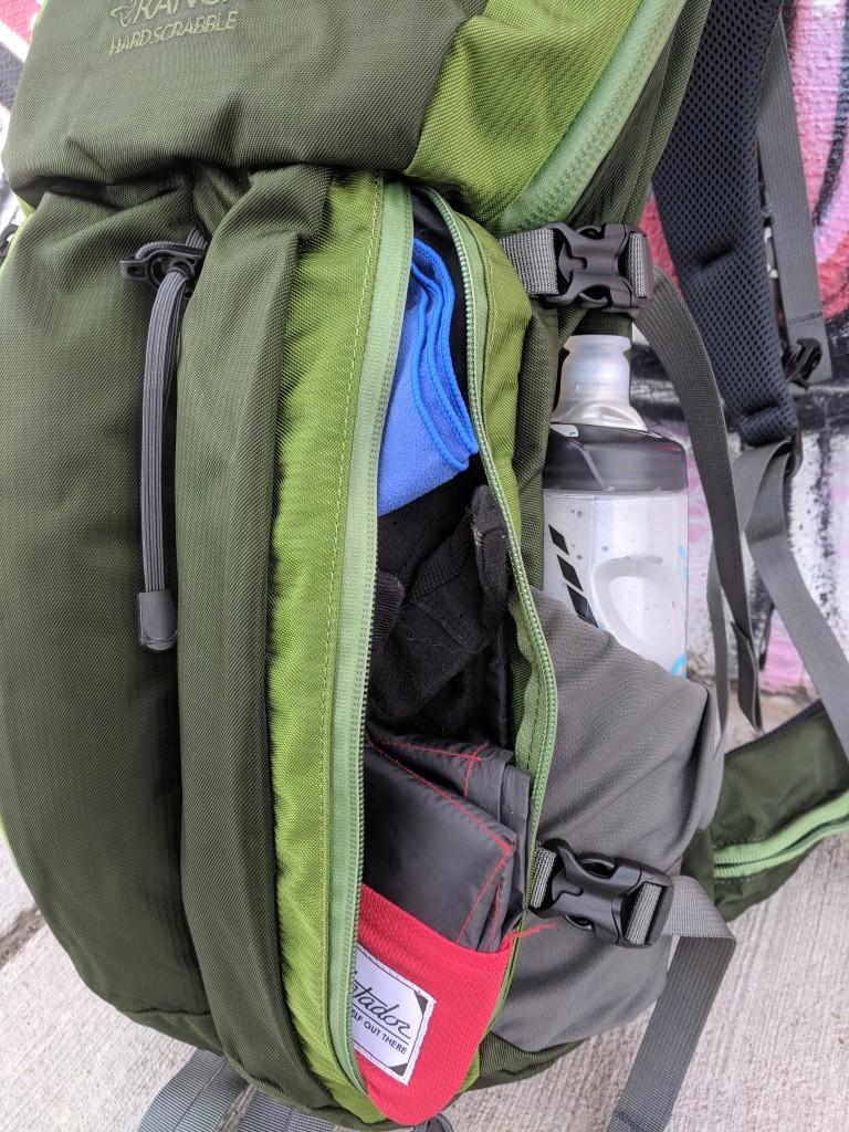 Mystery Ranch Hardscrabble review side zip pocket