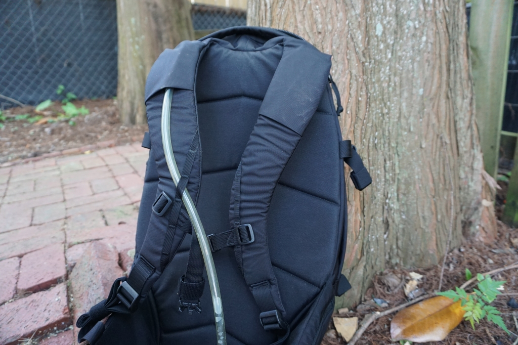 EVERGOODS MPL 30 Backpack Review hydration port and shoulder straps