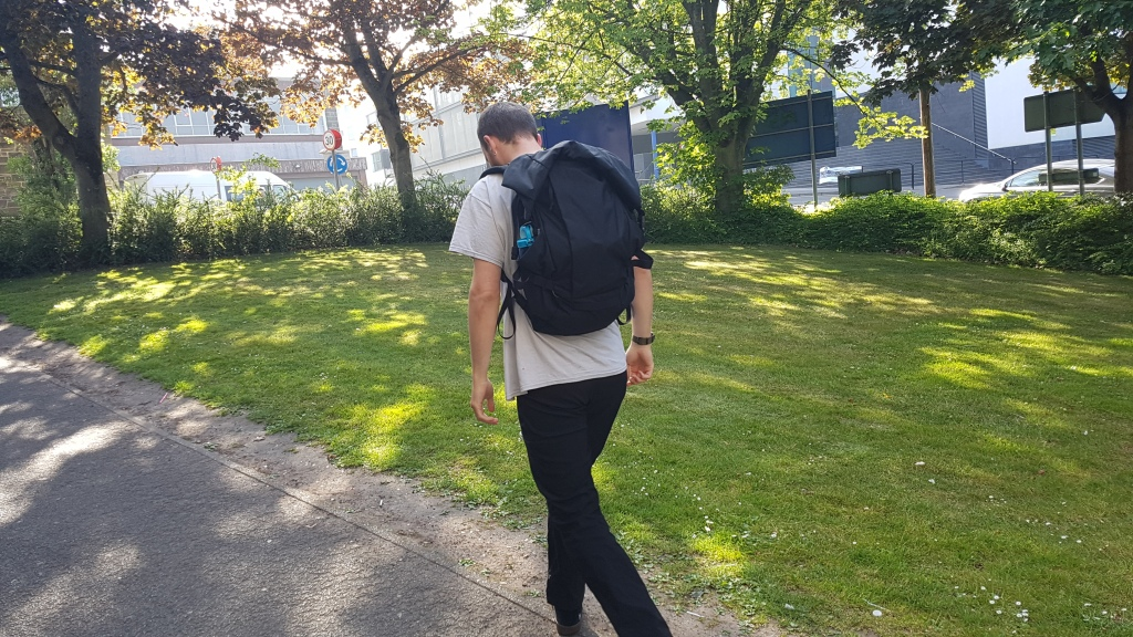 Attitude Supply ATD1 backpack review on body shot