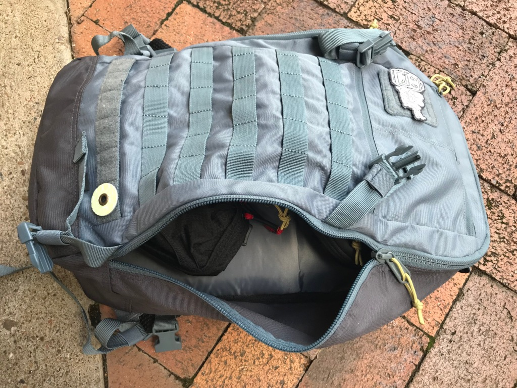 5.11 Quad Zip Pack Side Zip open main compartment access
