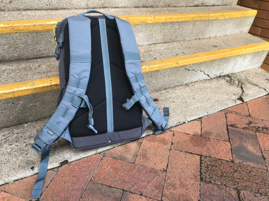 5.11 Rapid Quad Zip Pack backpack review rear view straps and back panel