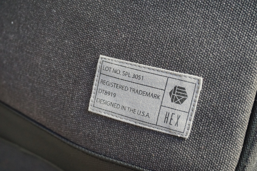 Hex brand supply signal backpack review label tag designed in the USA