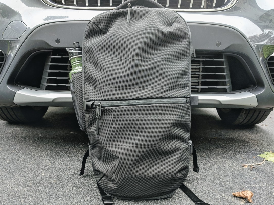 Aer Travel Pack 2 backpack review front view outside natural light