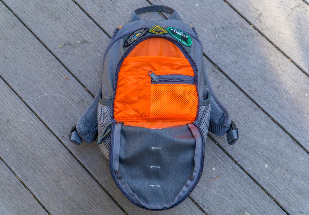 Cub Cubs Cub Ruck kids backpack review organizer admin section orange lining wolf gray interior view