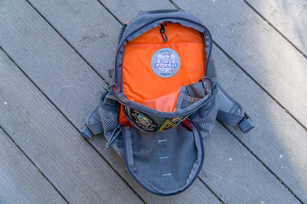Cub Cubs Cub Ruck backpack review main compartment orange lining tablet sleeve interior view