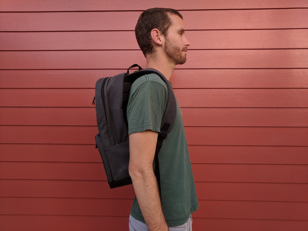 Hex brand signal supply pack backpack review side view on body wearer