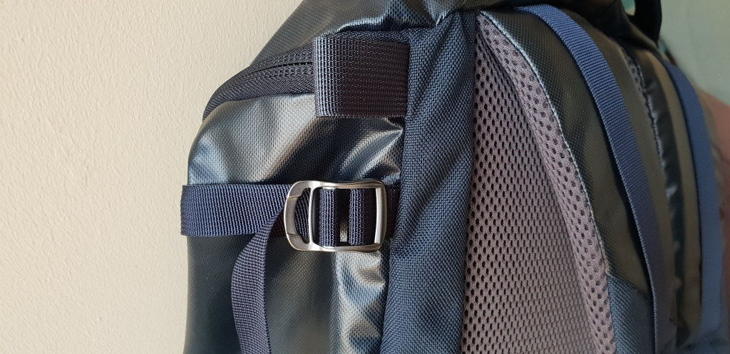 Mystery Ranch Robo Flip backpack review materials airmesh rubber material tpu metal buckles webbing