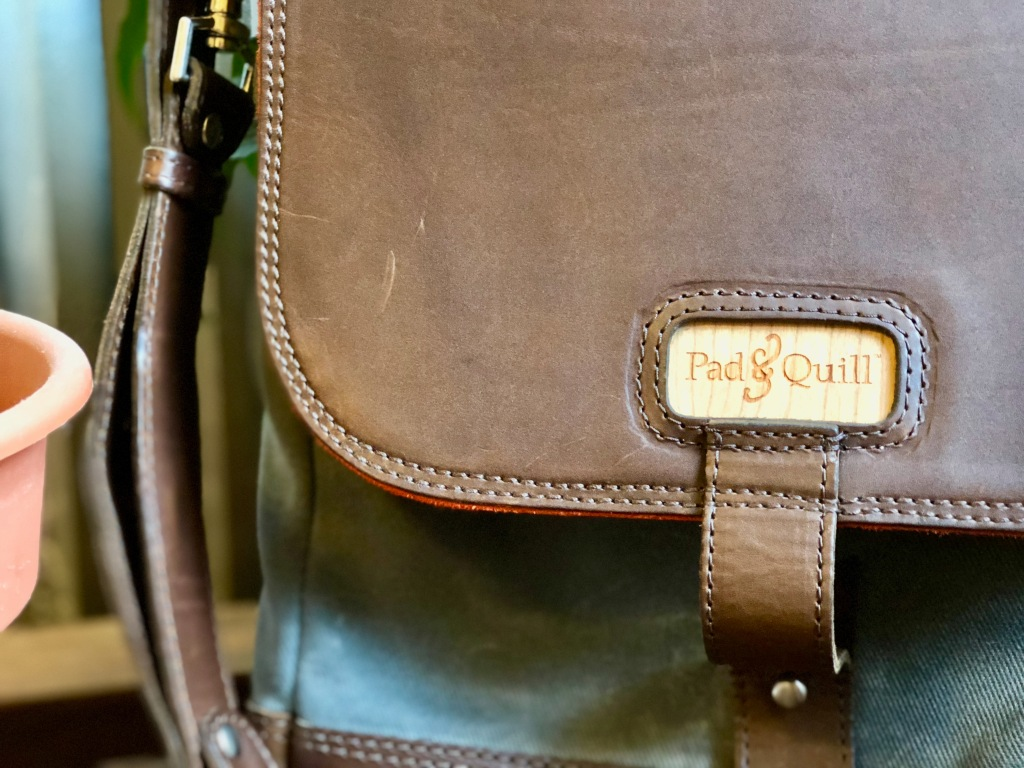 Pad & Quill Field Bag Review logo front of bag