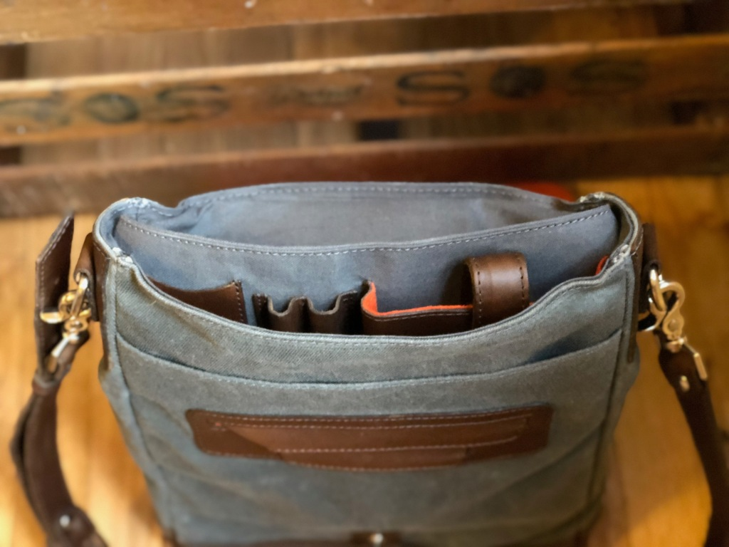 Pad & Quill Field Bag Review inside pockets