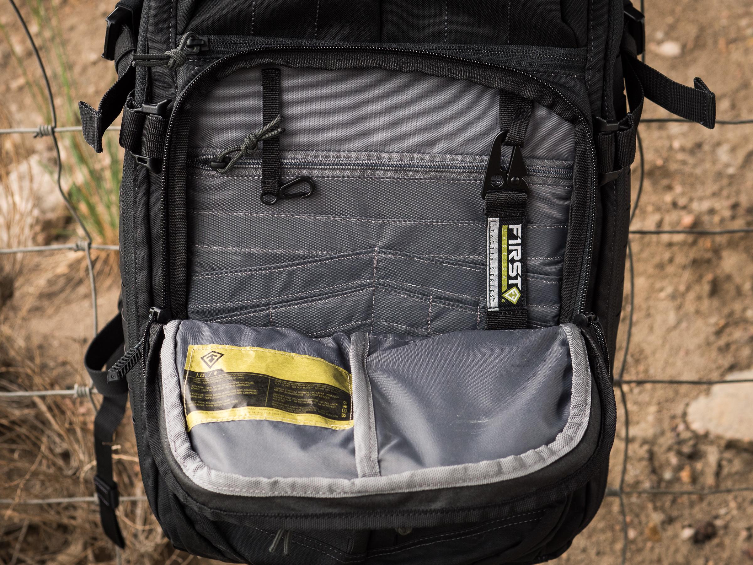 Tactix 1 Day Plus front pocket organization