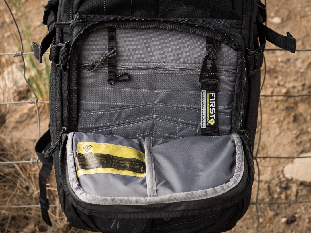 Tactix 1 Day Plus front pocket organization