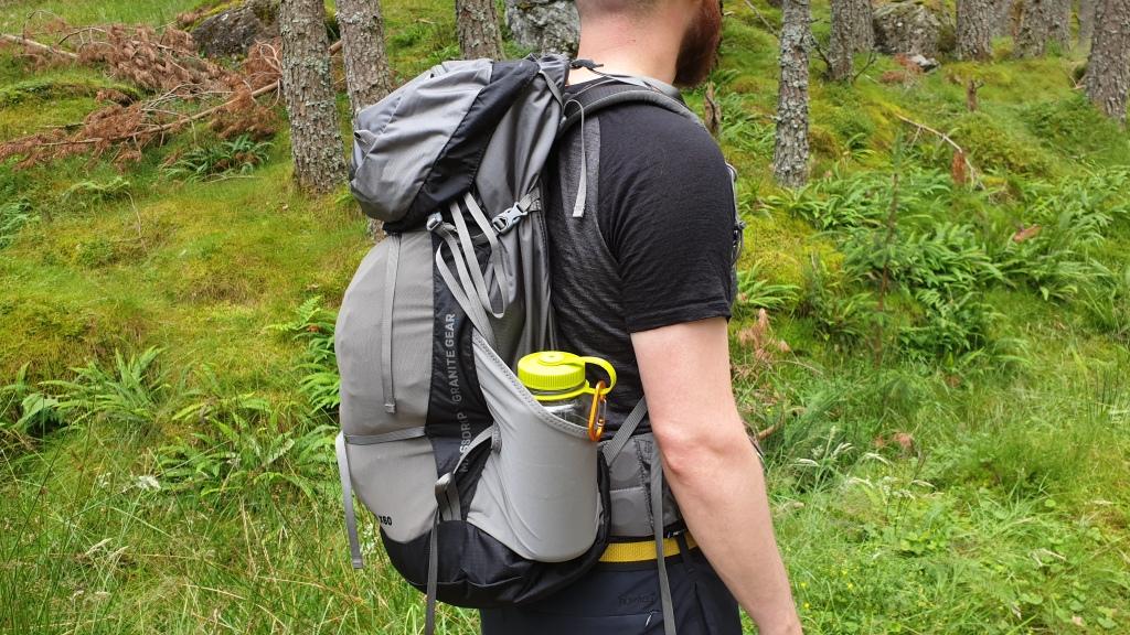 Massdrop X Granite Gear Crown2 backpack review side pockets nalgene bottle compression stretch pocket outdoors