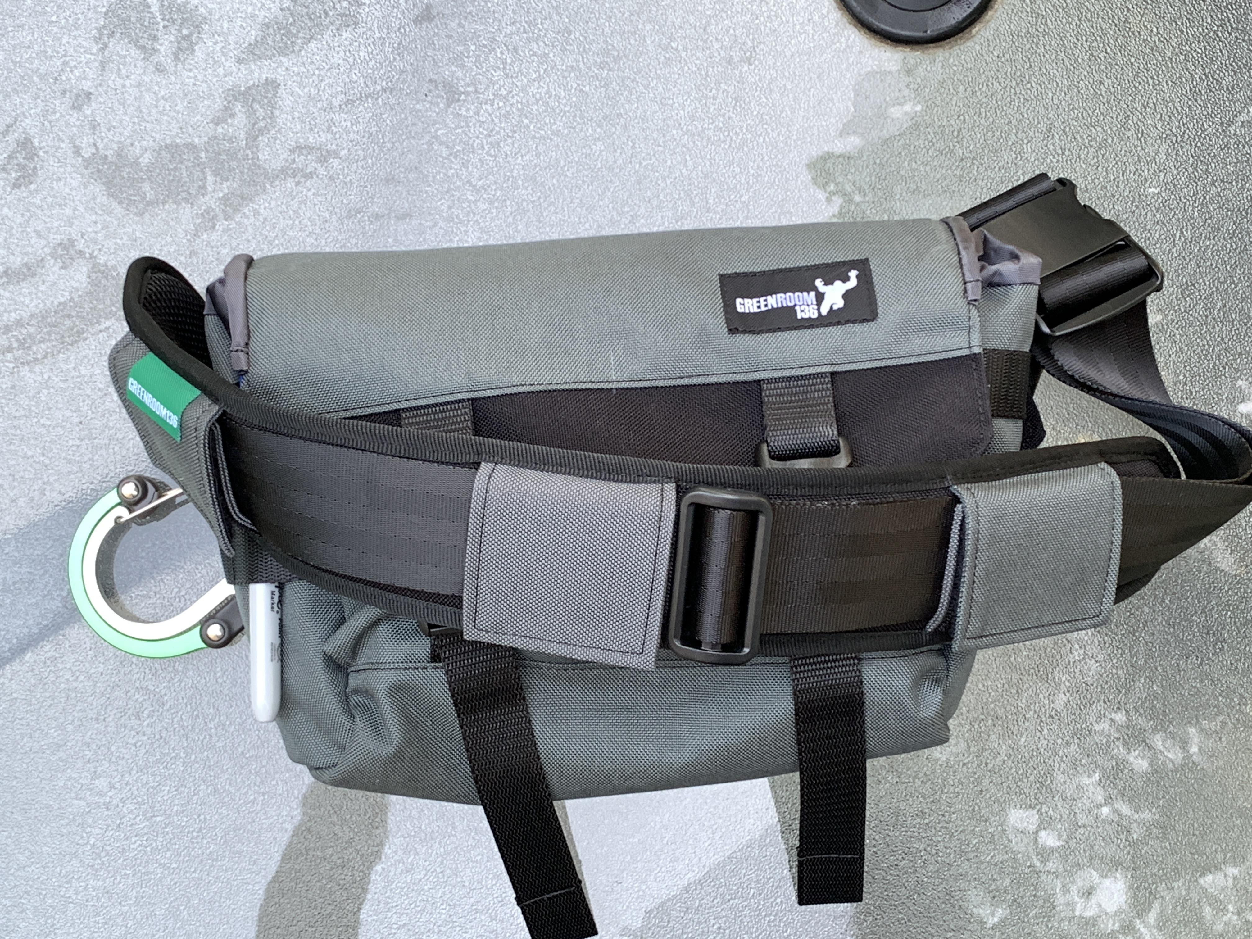 Greenroom136 Metrodrifter front of bag