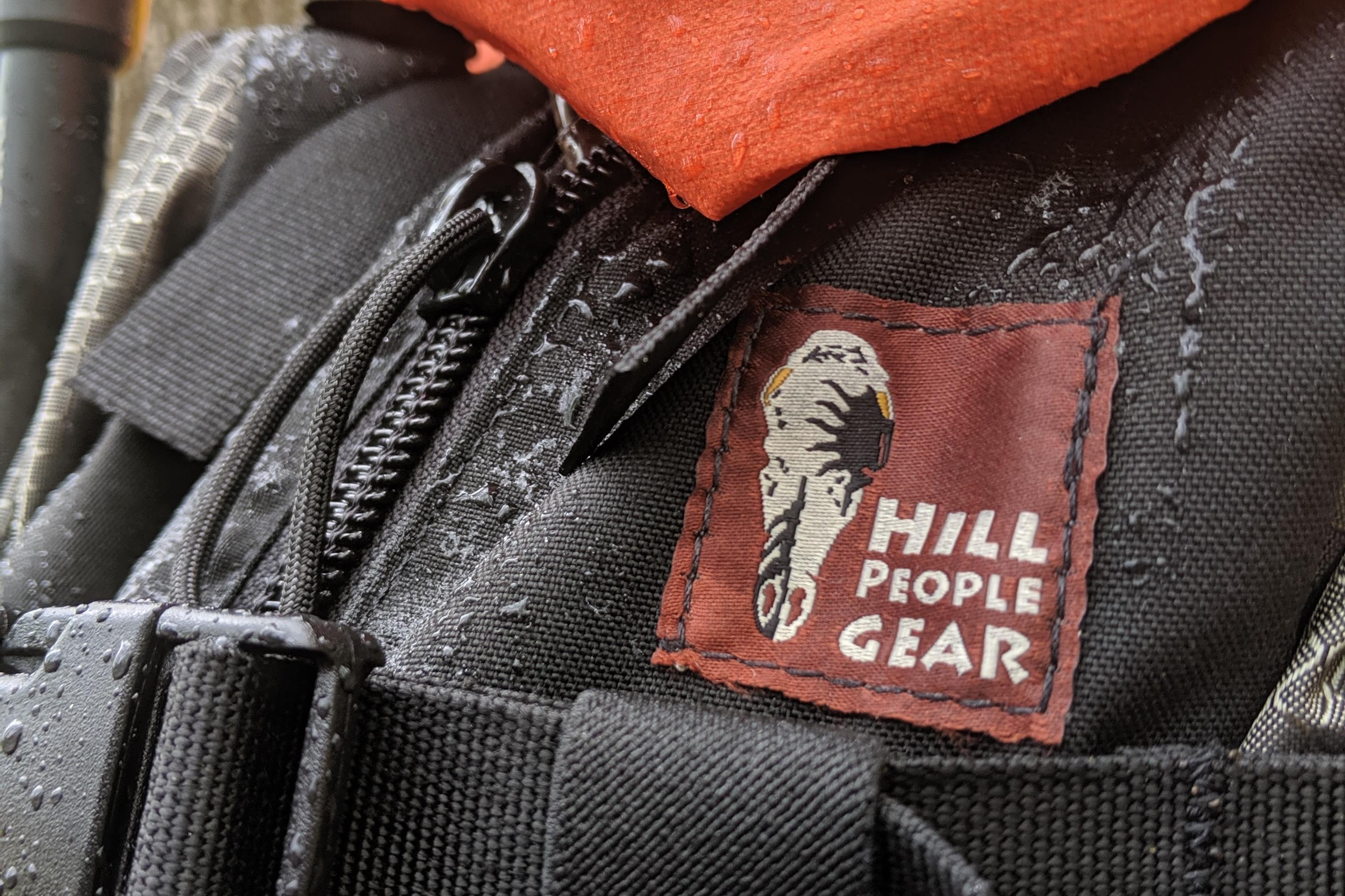 Hill People Gear Tarahumara Review logo in rain