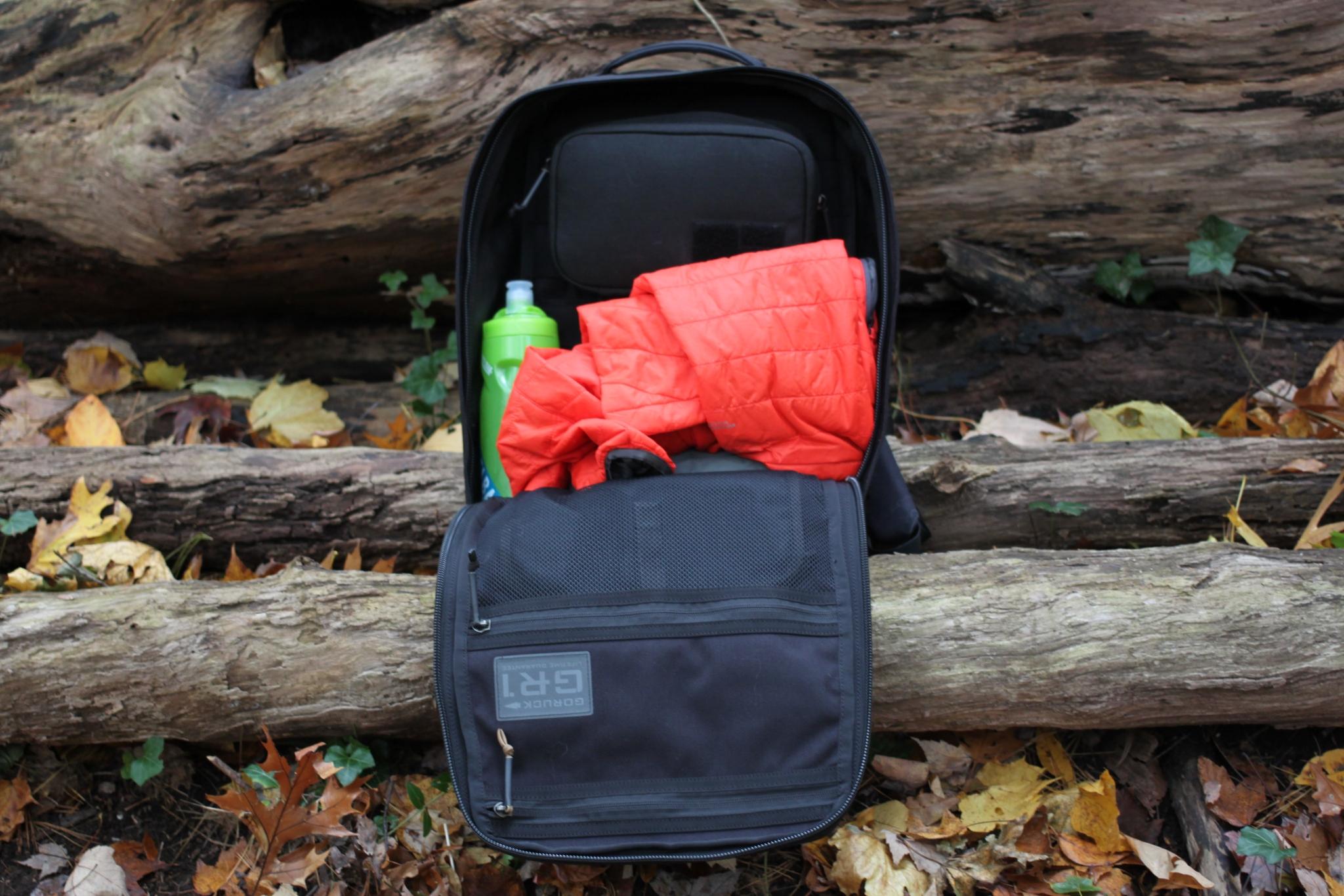 goruck gr1 review loadout inside field pocket