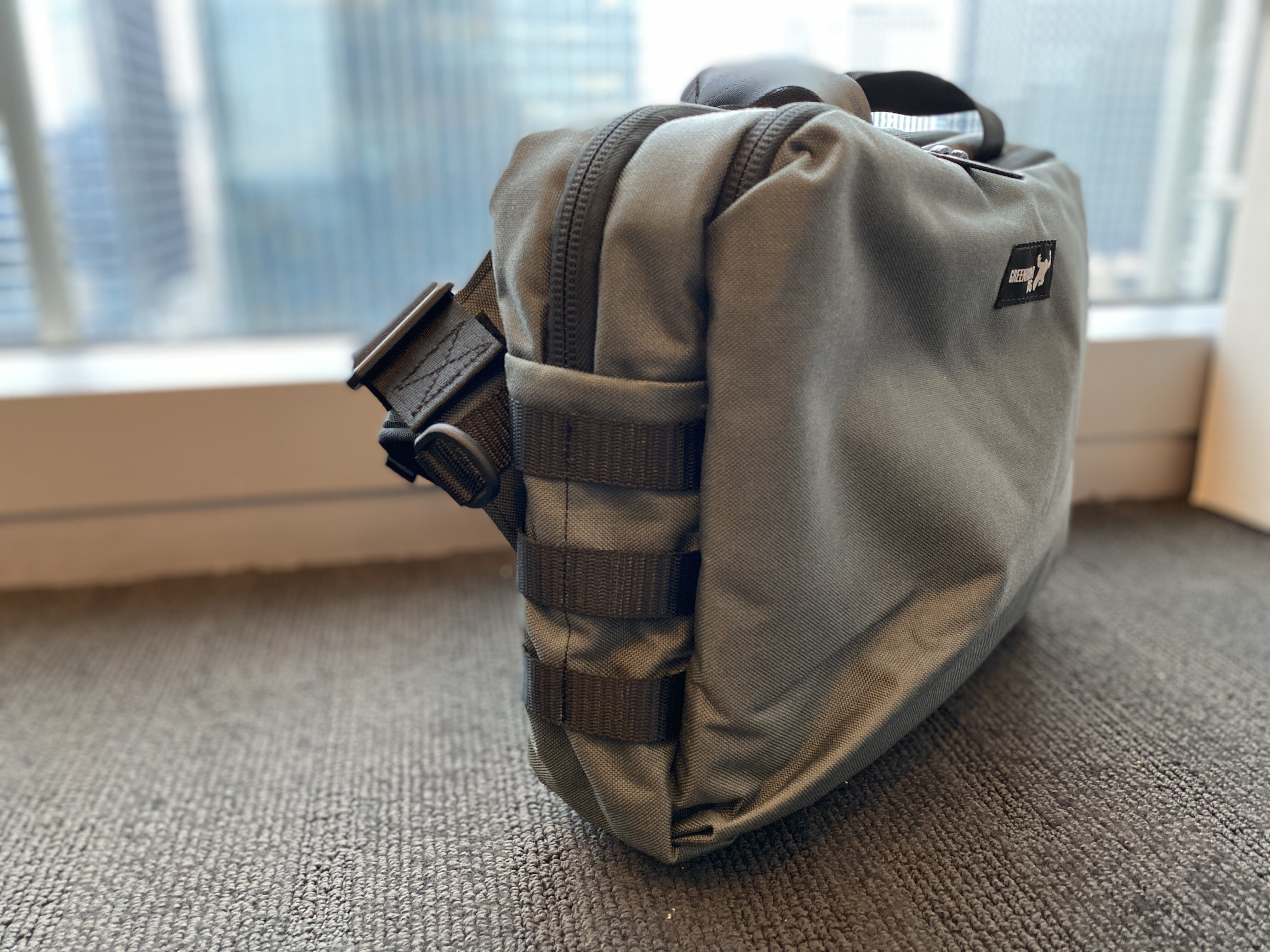 Greenroom136 Mission Attache side panel with PALs MOLLE