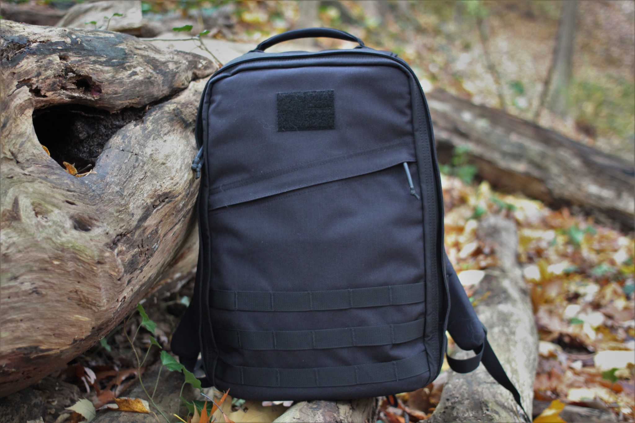 goruck gr1 review front of bag in forest