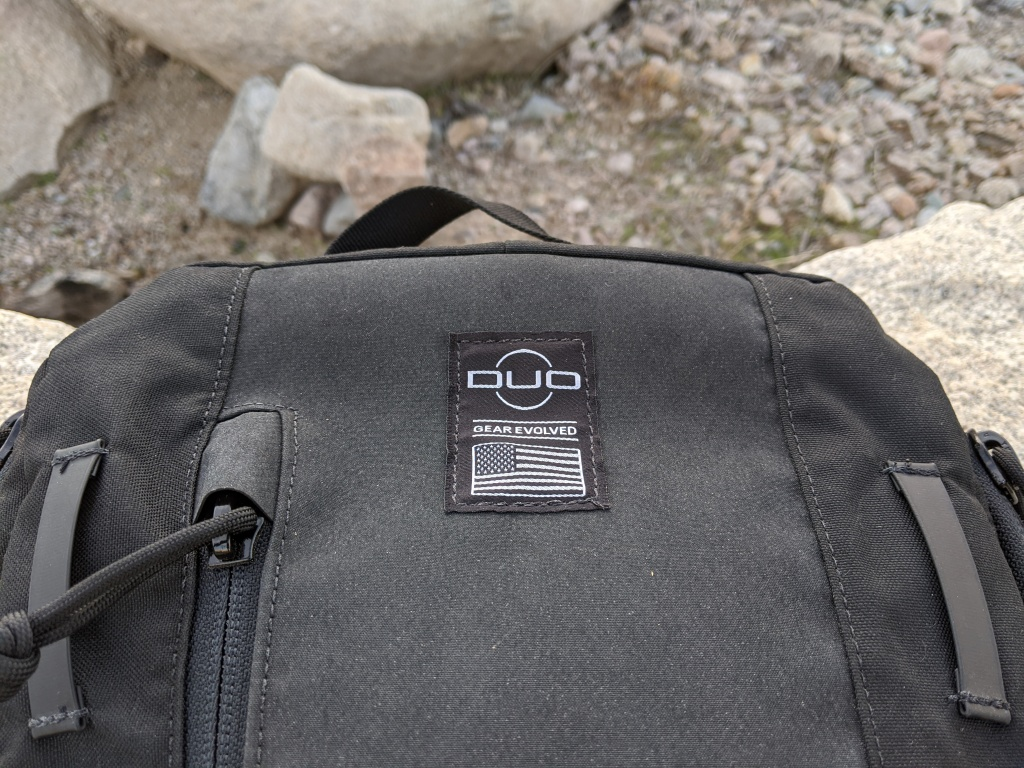 Duo Hoplite MPC Eclipse Review front of pack with attachment points and zipper